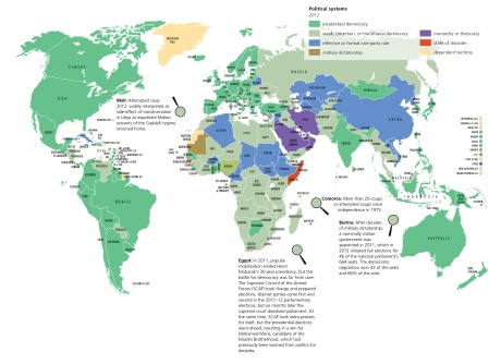 Diverse political systems and the potential for change - from The State of the World atlas